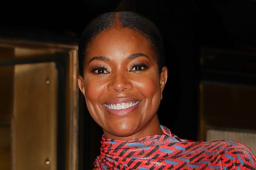 Gabrielle Union Gets Into Some 'Risky Business' in a Button-Down Shirt & Crew Socks