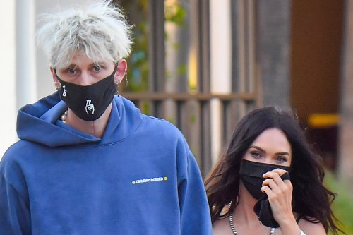 Megan Fox Has Her Eyes on You in the Wildest Sweats, Camisole & Sneakers Alongside Her Kids & MGK