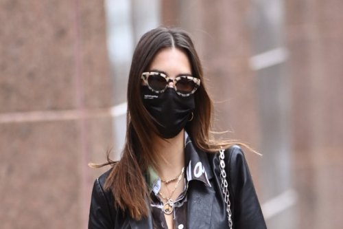 Emily Ratajkowski's Edgy Leather Suit and Vibrant Nikes Give the 'Mom' Aesthetic an Upgrade