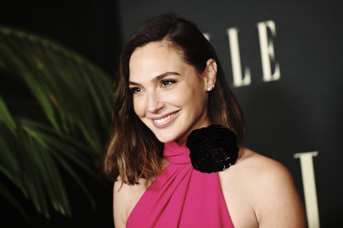 Gal Gadot Wows in Hot Pink Saint Laurent Gown & Strappy Sandals for Elle's Women in Hollywood Celebration
