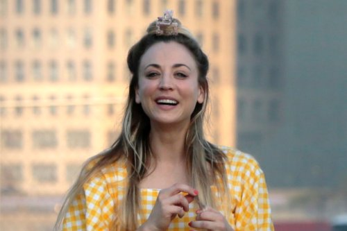 Kaley Cuoco Glows Before the Emmys in Sparkly Yellow Dress and Two Bold Shoes