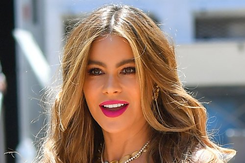 Sofia Vergara Blooms in the Brightest Floral Sundress & Neon 6-Inch Heels