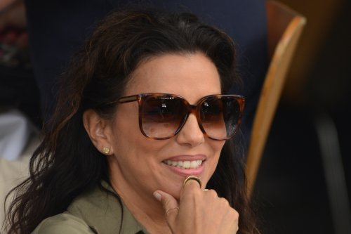 Eva Longoria Is Bold at 'Flamin' Hot' Set in Neon Yellow Under Armour Sneakers
