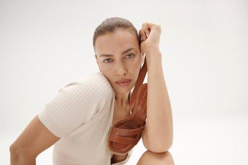 Irina Shayk Models the High Heeled Lug Sole Sandal from Her Tamara Mellon Collab & It's Made for All-Day Wear