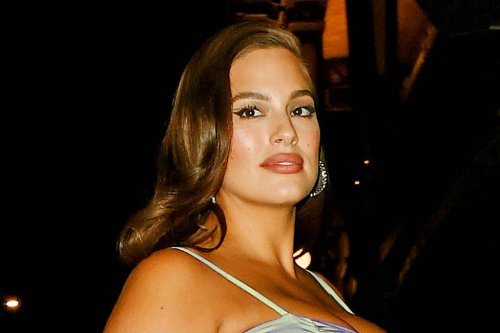Ashley Graham Models an Unexpected Outfit of the Day in a Bralette, Shapewear & Camouflage Crocs