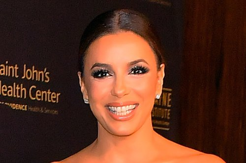 Eva Longoria Is Ready for the Office in an Oversize Blazer, Skinny Jeans & See-Through Heels