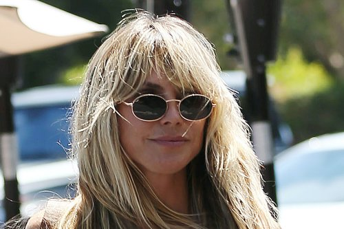 Heidi Klum Gets Wild for 'Making The Cut' in Mixed Animal Prints and Trendy Python Mules