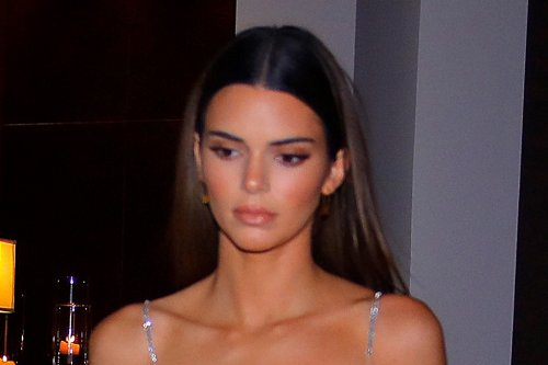 Kendall Jenner's Cherry Red Skims Set & See-Through Yeezy Wedges Are Ready for Valentine's Day