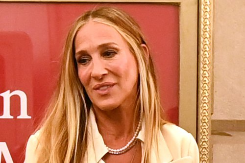 Sarah Jessica Parker Slips on Carrie's Iconic Blue Manolo Blahnik Pumps for 'And Just Like That…'