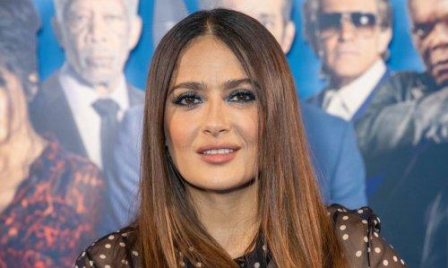 Salma Hayek Stuns in 6-Inch Platform Heels at 'Hitman's Wife's Bodyguard' UK Premiere