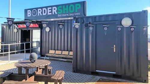 Why A Shipping Container Has Been Turned Into Possibly The World's Smallest Border Store