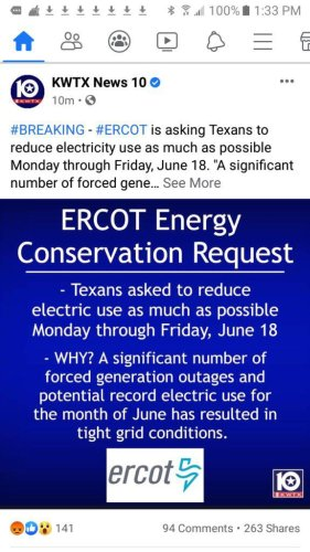 ERCOT Shocks Texans Again With Another Power Conservation Notice