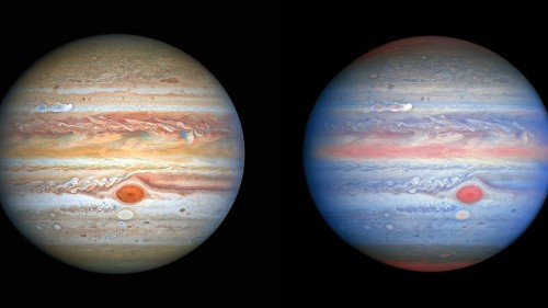 Hubble Snaps Stunning New 'Rainbow' Views Of Jupiter And Finds A New Storm Brewing