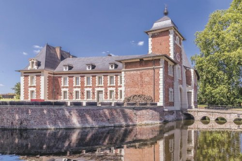 Brick Chateau With A Moat Asks $3.5 Million In Northern France