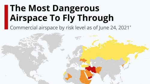 The Most Dangerous Airspace To Fly Through [Infographic]