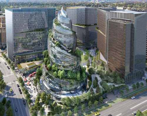 Amazon's HQ2 Reveals The 'Helix' In Attempt To Revamp Crystal City, VA
