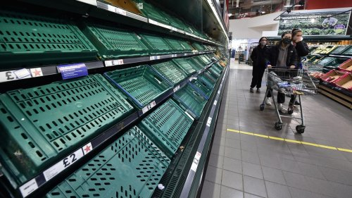 Brexit Tensions In Ireland As Supermarket Shelves Sit Empty