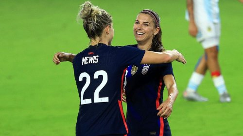 Alex Morgan Scores In She Believes Cup Marking Nomination For Laureus Comeback Award