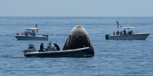 Pro-Trump Boat Among Dozens That Nearly Ruined The Return Of SpaceX's Crew Dragon Spacecraft
