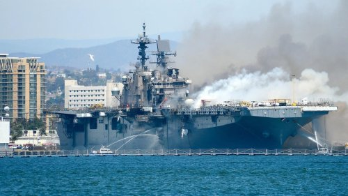 Navy Charges Sailor With Starting Fire That Destroyed Assault Ship Bonhomme Richard