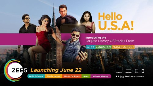 Indian Streaming Platform ZEE5 To Launch In US On June 22