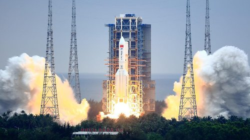 A Huge Chinese Rocket Will (Probably) Crash Into Earth Tonight. Here's What We Know.