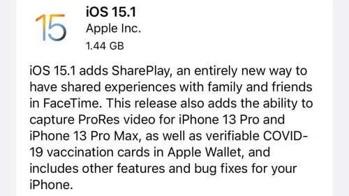 Apple iOS 15.1: Update Released With Brilliant New iPhone Features