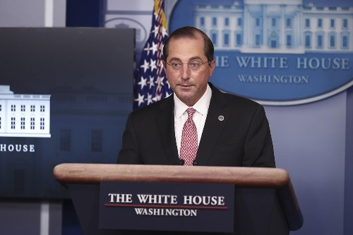 HHS Secretary Alex Azar Submits 'Resignation Letter,' Effective January 20, Inauguration Day