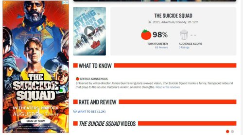 'Suicide Squad' Is Currently The Best Reviewed DC Or Marvel Movie Ever