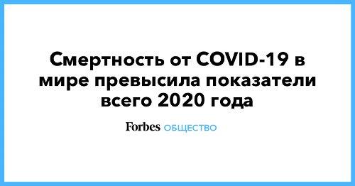 Смертность от СОVID-19 в мире превысила показатели всего 2020 года