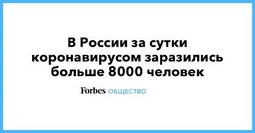 В России за сутки коронавирусом заразились больше 8000 человек