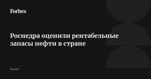 Роснедра оценили рентабельные запасы нефти в стране | Forbes.ru