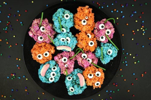 Marshmallowy Monster Rice Krispies - Forkly