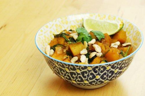 Stovetop Vegan Squash & Kale Thai Curry - Forkly