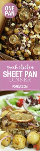 Greek Chicken Sheet Pan Dinner - Forkly