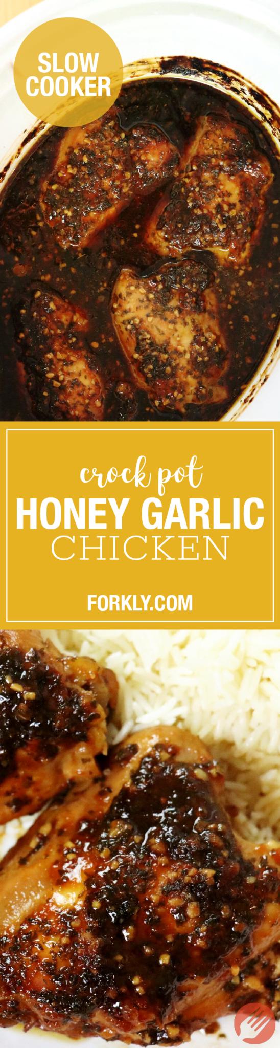 Crock Pot Honey Garlic Chicken - Forkly