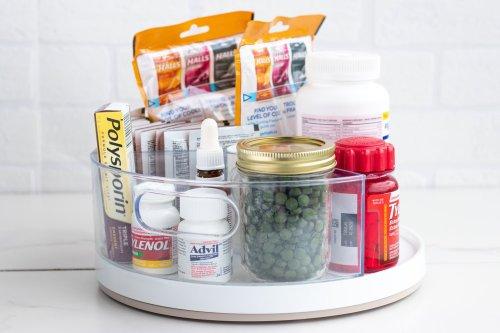 Lazy Susan DIY Hack: Medication and Supplements - Forkly