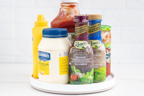 Lazy Susan DIY Hack: Condiments - Forkly