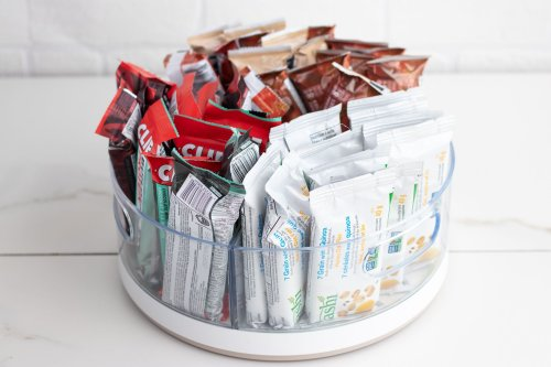 Lazy Susan DIY Hack: Granola Bar Station - Forkly
