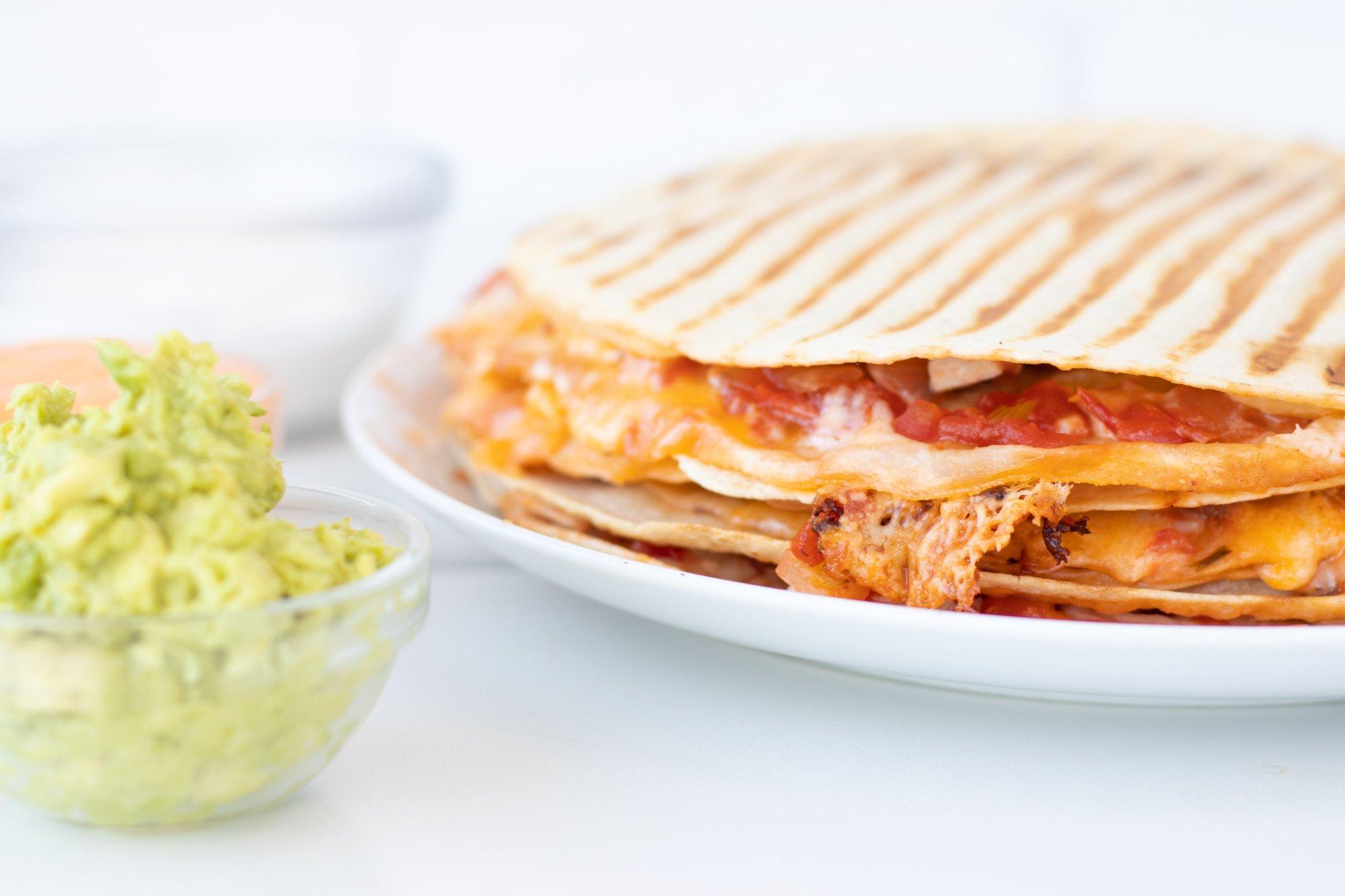 Easy Weeknight Leftover Chicken Quesadillas - Forkly
