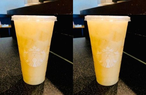This Secret Skinny Yellow Starbucks Drink Tastes Like Paradise - Forkly