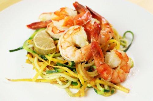 One Pan Spiralizer Shrimp Dinner - Forkly