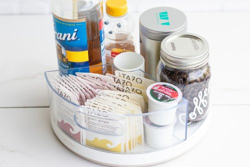 Lazy Susan DIY Hack: Hot Beverage Station - Forkly