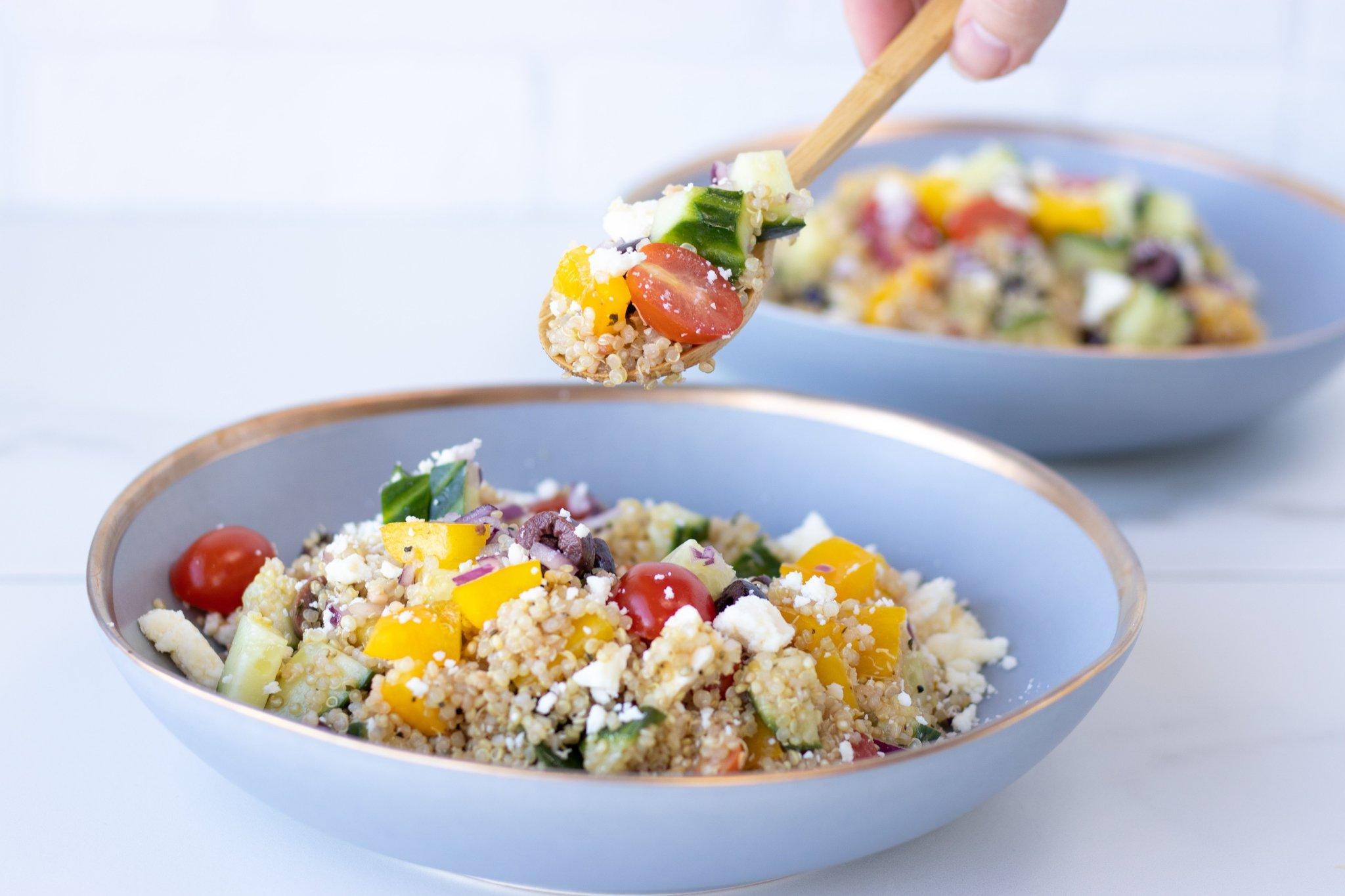 Quick & Easy Mediterranean Quinoa Salad - Forkly