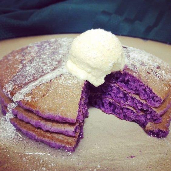 Purple Haze Ube Pancakes - Forkly