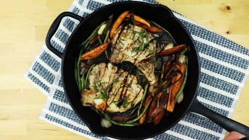 One Skillet Pork Chop & Veggie Dinner - Forkly