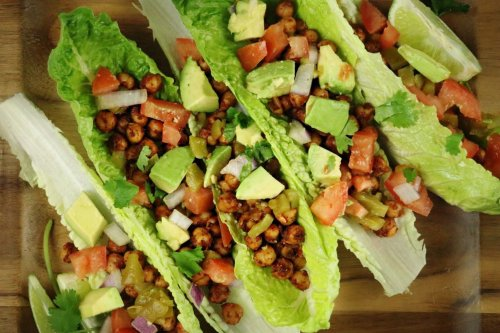 Vegan Chickpea Tacos Lettuce Boats - Forkly