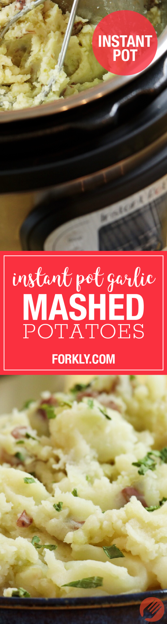 Instant Pot Garlic Mashed Potatoes - Forkly