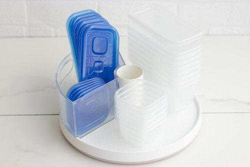 Lazy Susan DIY Hack: Tupperware Organization - Forkly