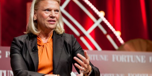 After eight years, what did IBM's outgoing CEO accomplish?